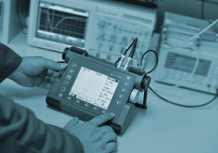 calibración medidor de defectos ultrasonido