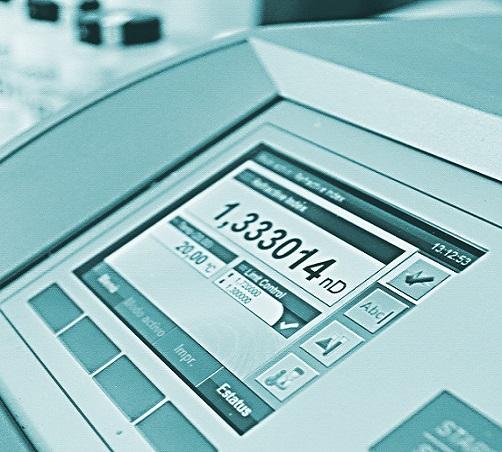 verificación de refractómetros