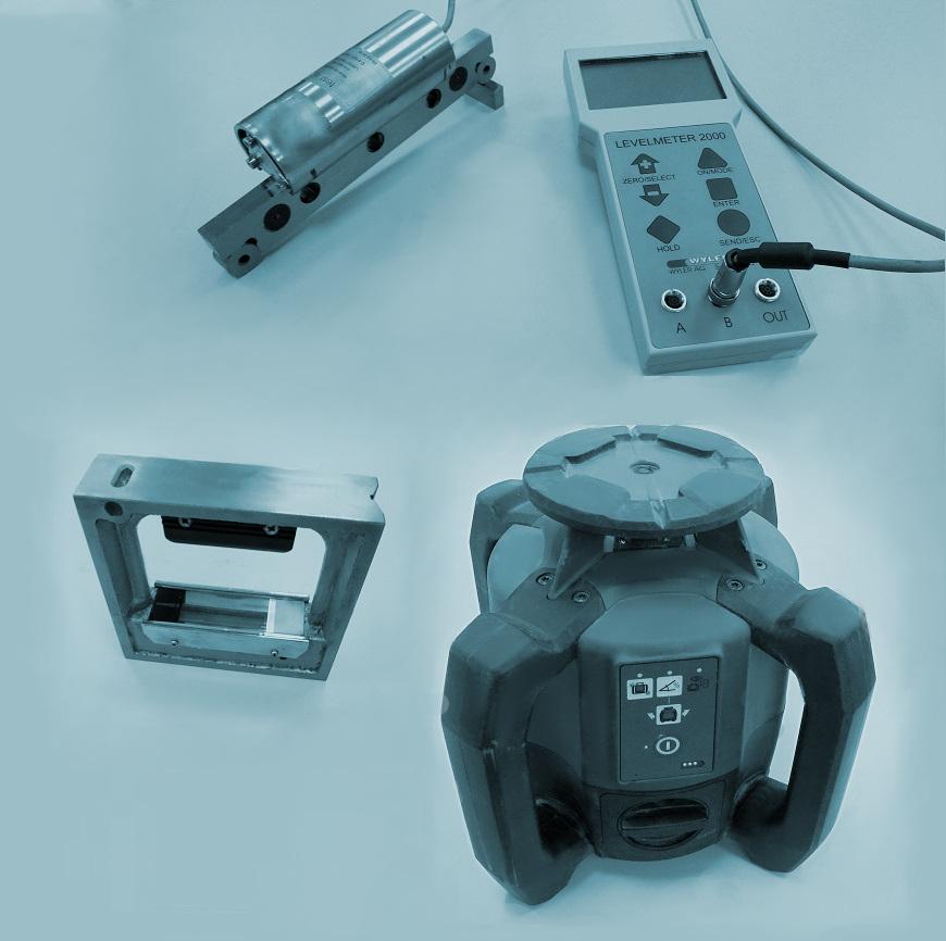 Calibración de niveles ópticos, niveles láser y distanciómetros