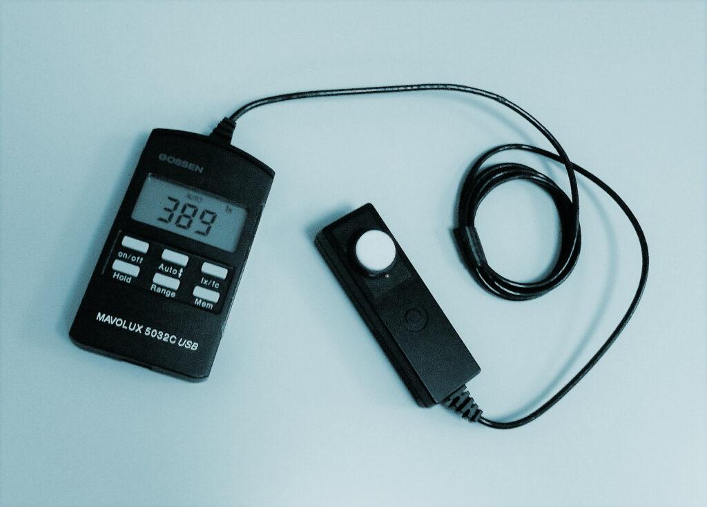 calibración luxómetros