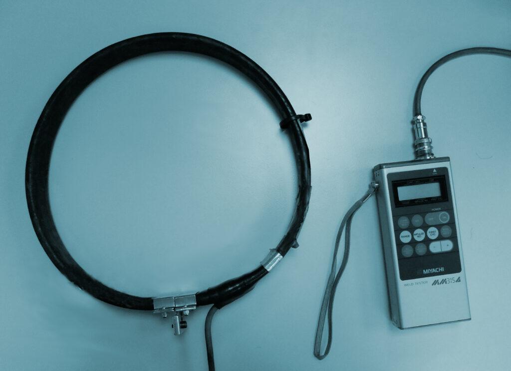 medidor de corriente por soldadura