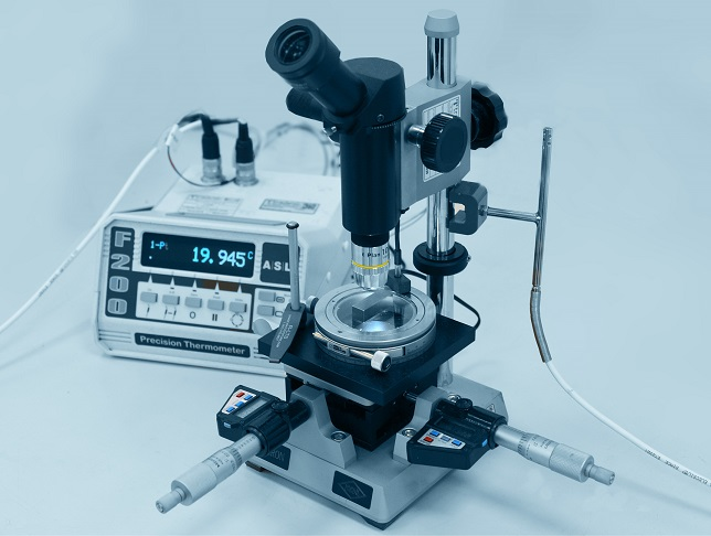 calibración microscopios